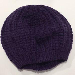NWT Coach Chunky Shaker Beret Hat Purple